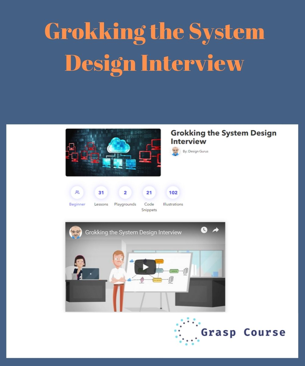 Grokking The System Design Interview Grasp Course